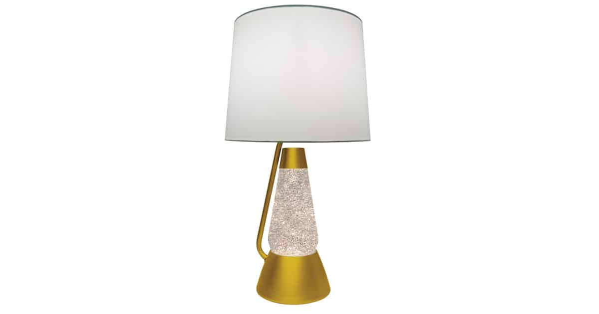 3115 gold glitter with clear liquid motion lamp lava lamp. Black Bedroom Furniture Sets. Home Design Ideas