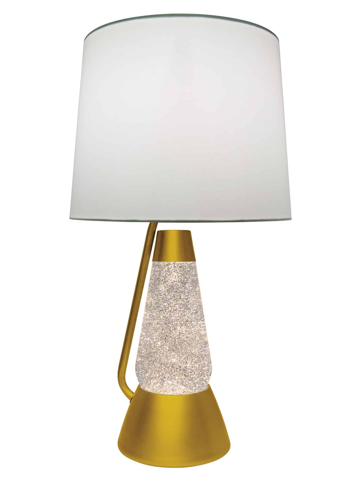 Model 3115. Gold Glitter With Clear Liquid Motion Lamp
