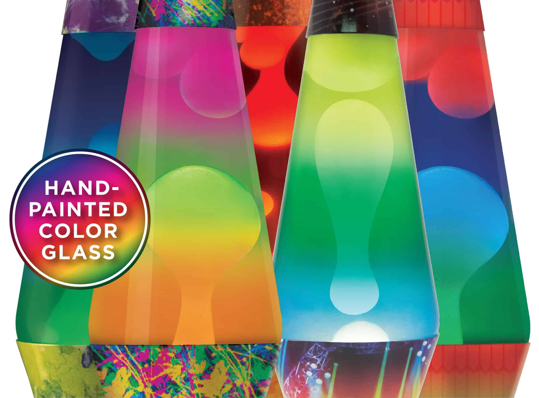 Colormax Lava Lamps Hand Painted Multi Colored Lighting