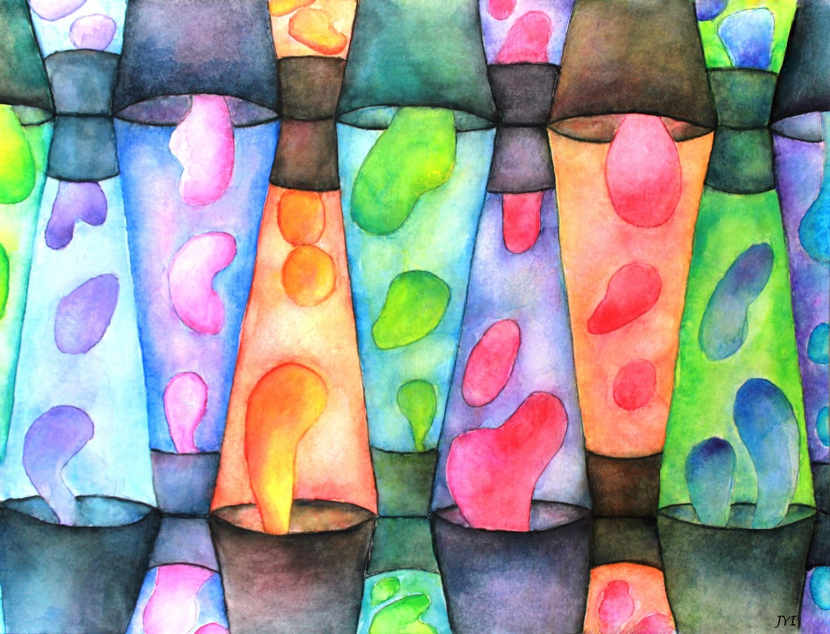 Lava Inspired Art By Janet Powers Immordino Lava Lamp